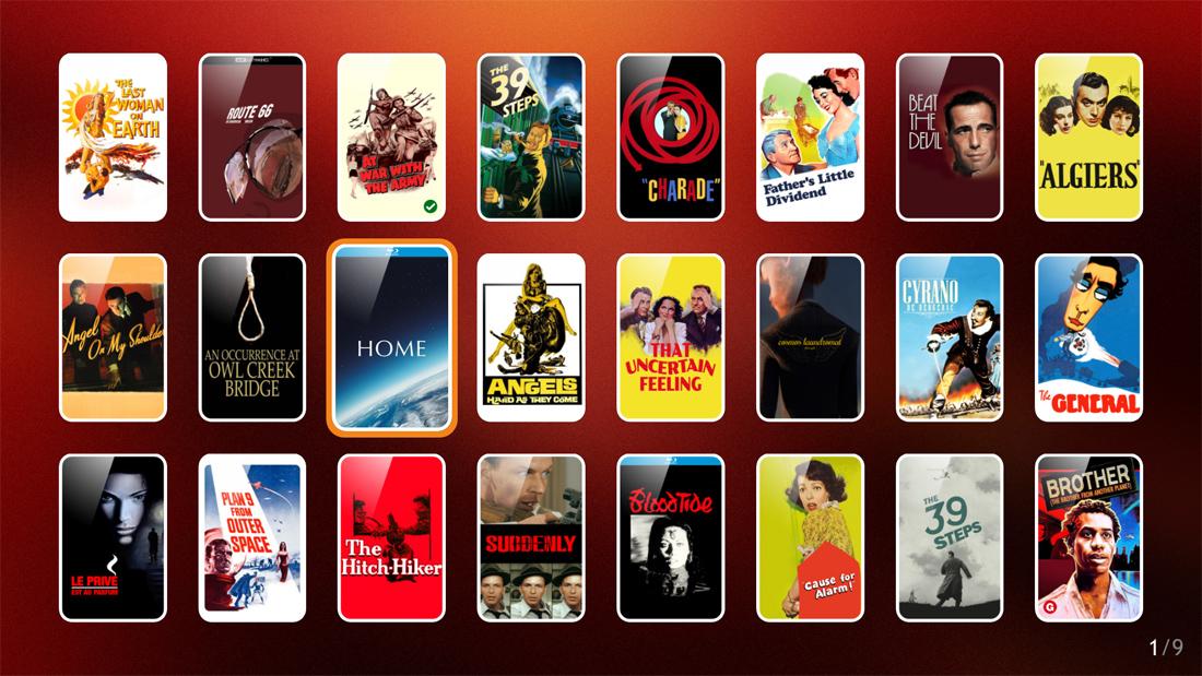 Zappiti Video: Movie cover navigation